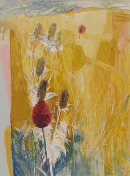 <i>Field of Yellow,</i> oil on canvas, 40 x 30""