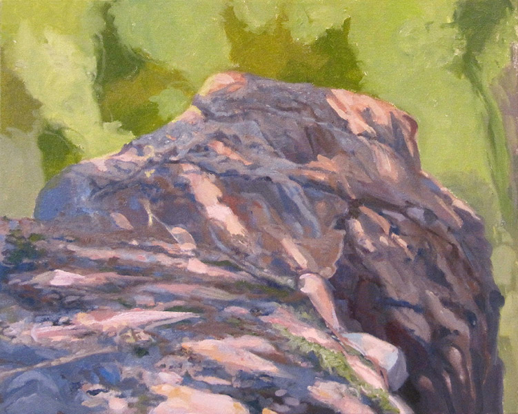 <i>Granite Rock Mound</i>, oil on canvas, 16 x 20""