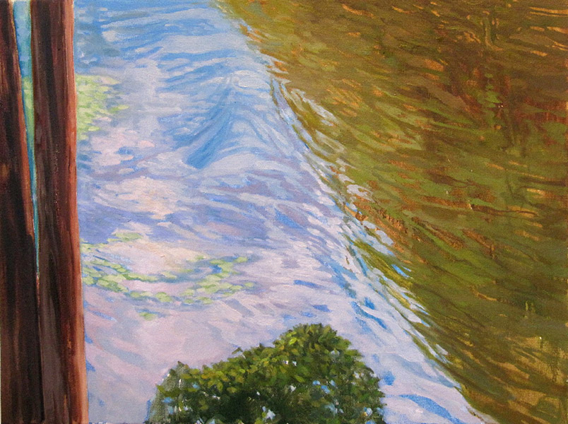 <i>Water Reflections</i>, oil on canvas, 18 x 24""